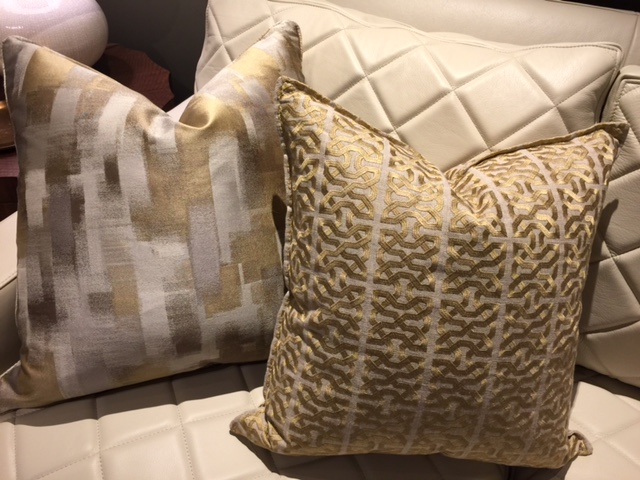 Sparkly pillows are always a good design option, and I love these! - McNabb & Risley