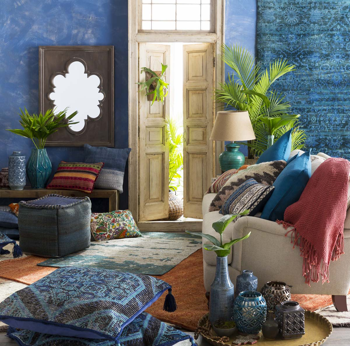 Boho Blues… I need one of these blue paint selections in my life! - McNabb & Risley