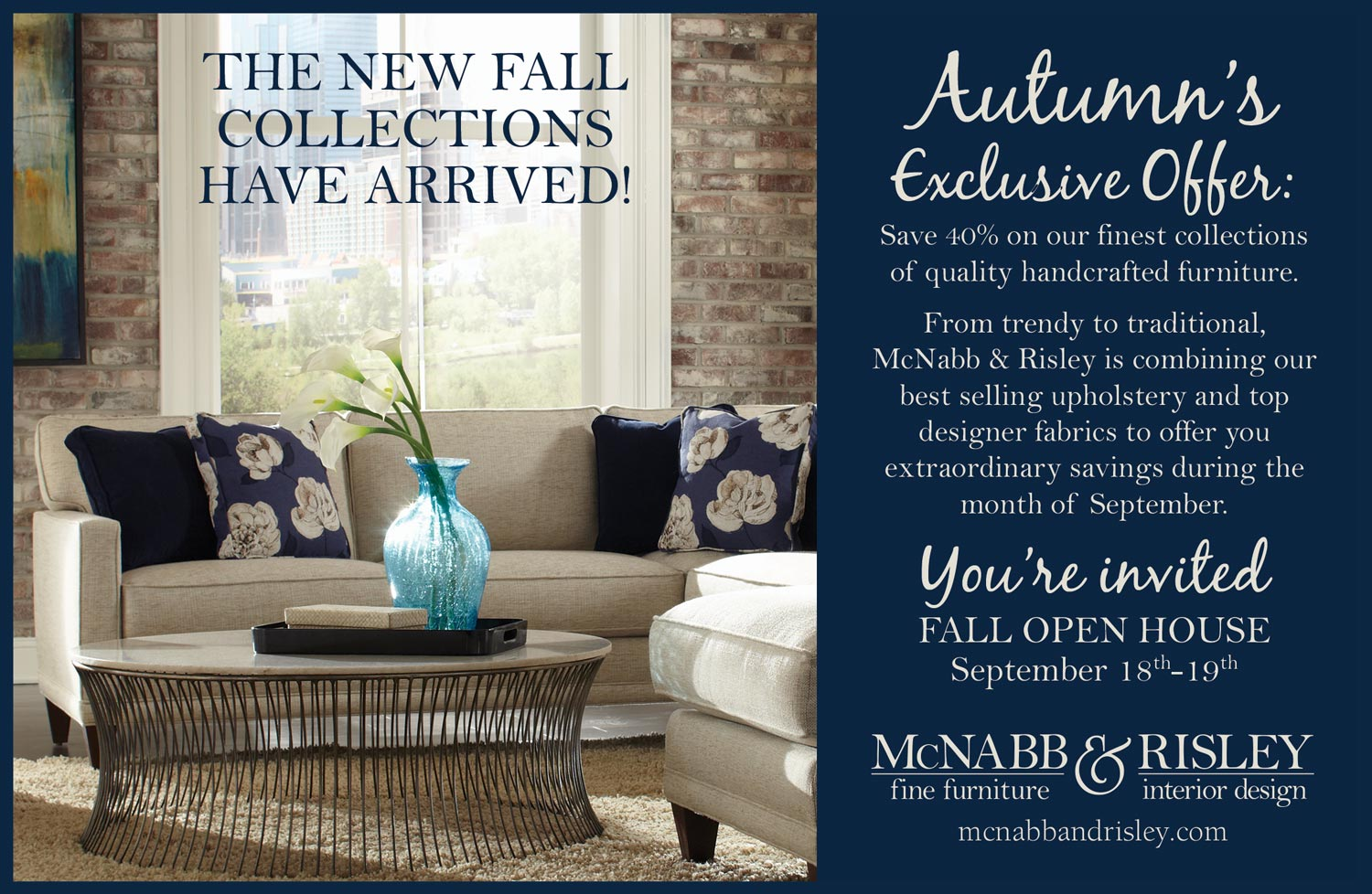 The New Fall Collections Have Arrived! - McNabb & Risley