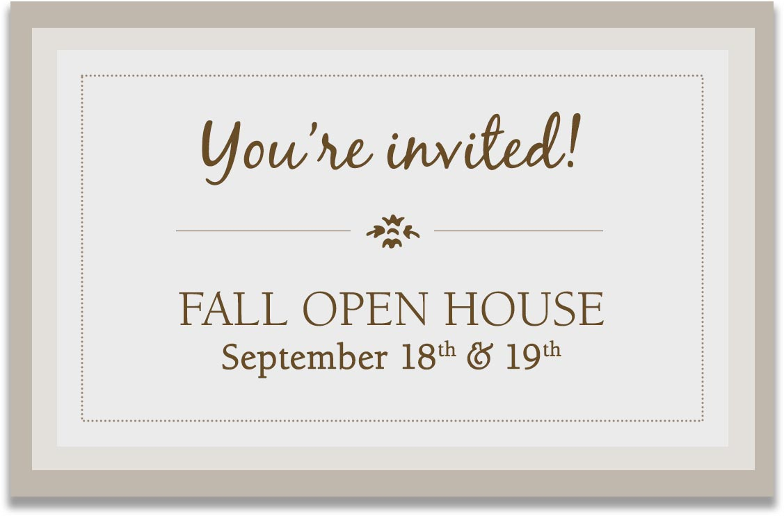 You're invited to our Fall Open House! - McNabb & Risley