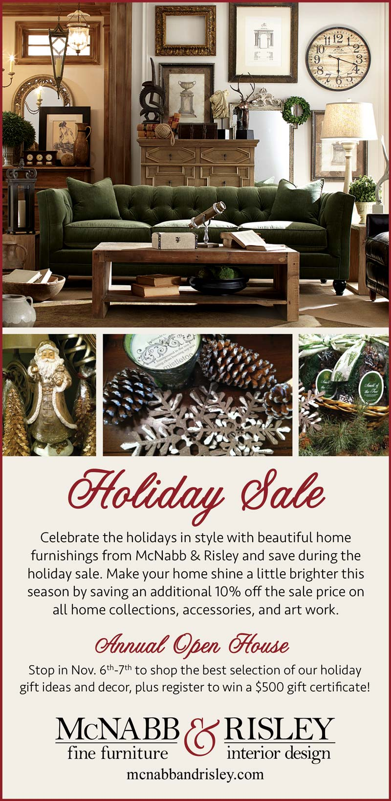 Visit us during the Holiday Sale! - McNabb & Risley