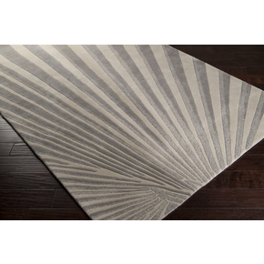 The Soft Color Palette Of Flint Gray Icicle And Silver Cloud Creates A Dynamic Yet Subtle Art Deco Inspired Area Rug Strong Geometric Pattern Is